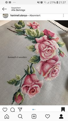 New Finished Completed Cross Stitch - Multi-color peony - Cross Stitch Rose, Cross Stitch Borders, Cross Stitch Flowers, Cross Stitch Charts, Cross Stitch Designs, Cross Stitching, Cross Stitch Patterns, Floral Embroidery Patterns, Crewel Embroidery