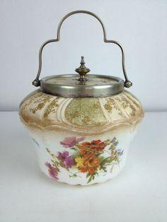 Antique Biscuit Barrel Doulton Burslem Porcelain  RA2588