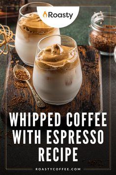 I'm pretty sure you've heard of whipped coffee. If you haven't, get on the bandwagon already! This recipe uses espresso instead of the usual ground coffee. Probably only a good recipe for all the REAL coffee lovers out there. #coffee #espresso #whippedcoffee Easy Coffee, Coffee Ideas, Coffee Creamer, Coffee Drinkers, Nespresso Recipes, Coffee Drink Recipes, Ground Coffee, Coffee Lovers, Recipe Using