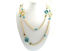 Quatrefoil Necklace design idea. Would look great with a bikini!