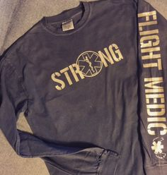 Flight Medic EMS Shirt. (can be customized further for Police, Fire etc) by EmilyOliveCollection on Etsy