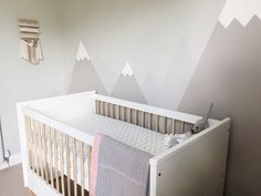 Since I posted about our finished nursery, I've had quite a few requests for a how-to for the mountain mural.
