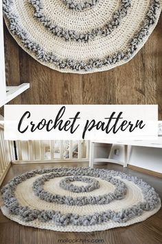 Easy crochet rug pattern for a big cozy area rug Bring out that hygge feeling with this rug crochet pattern crochetrug crochetpatternrug crochetrugpattern