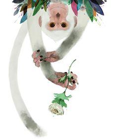 Mono-sapiens Davide Calí y Gianluca Folí Illustration Singe, Digital Illustration, Graphic Illustration, Cali, Art Mignon, Monkey Art, Motifs Animal, Animal Graphic, Cute Wallpaper Backgrounds