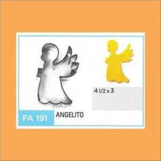 Categoría: Cortantes Metalicos Galletas - Producto: Cortante Metal Angelito - Fa191 - Envase: Unidad - Presentación: X Unid. - Marca: Flogus