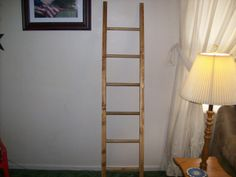 Handcrafted Leaning Ladder Rack. 6 foot tall by 15 inches wide. Check it out on our Etsy.com site for more information.