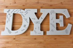 Custom Wedding Guest Book, Name Sign, Personalized Cutout Name,Wedding/Anniversary/Baby Shower, Family/Wall/Nursery Sign. $70.00, via Etsy.