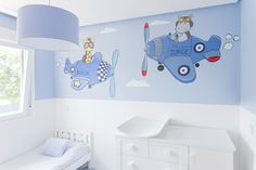 Murales by Gema Lopez S Baby Wall Decor, Baby Fever, Baby Room, Toddler Bed, Sweet Home, Wallpaper, Furniture, Home Decor, Bedroom Paintings