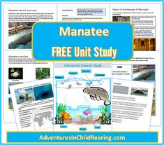 Adventures in Child Rearing is offering, for a limited time, this FREE Manatee Unit Study.  Each Unit Study Includes Wildlife/Nature S