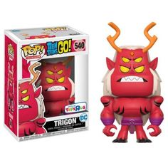 Funko Pop Television 540 Teen Titans Go Trigon Toys R US Figure for sale online Funk Pop, Teen Titans Go, Funko Pop Marvel, Pop Vinyl Figures, Funko Pop Figures, Madrid Barcelona, Pop Toys, Pop Television, Funko Pop Vinyl
