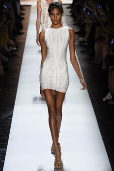 Cindy Bruna for Hervé Léger by Max Azria - Spring/Summer 2016 - New York Fashion Week.