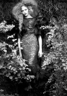 'Couture Memoirs' Sasha Pivovarova by Paolo Roversi for Vogue Italia September 2007