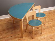 Alvar Aalto Child's Table & Chairs Set