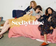 See By Chloe enlists a cast of fresh faces for its spring-summer 2018 campaign. Captured by Oliver Hadlee Pearch, models Julia Nicole Meyer, Nandy Nicodeme… Chloe Fashion, Fashion Beauty, Chloe Brand, Nicole Meyer, See By Chloe, Beauty Editorial, Advertising Campaign, Spring Summer 2018, Free Spirit
