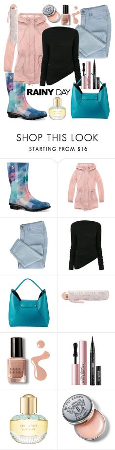 """""""Rainy Day Wear"""" by tabzhodge ❤ liked on Polyvore featuring UGG, Andrew Marc, Rick Owens, Neiman Marcus, Ted Baker, Bobbi Brown Cosmetics, Too Faced Cosmetics, Elie Saab and rainyday"""