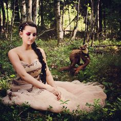 Photoshoot. Forest, nature, princess, fashion, fairy tale, me, makeup, long brown hair. Photo by Connie Trangsrud!