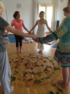Flower Mandela Ceremony Circle for Divine Feminine Goddess Energy Celebration <3