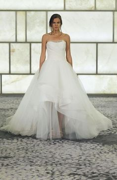 Rivini - Strapless Ball Gown in French Lace