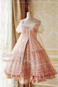 Lolita Tips, truth2teatold:   Dear Celine floral overdress...