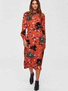 734efad8 Selected Femme - red printed midi dress - Dresscodes | Dresses and ...