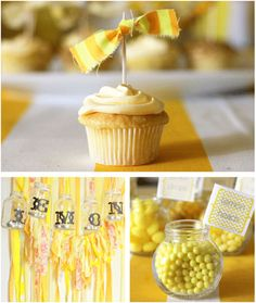 I like the simple toothpick with fabric for a topper