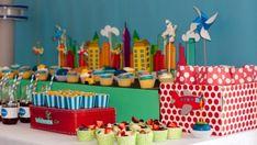 Boys Plane Party Display  Boys Party Ideas  www.spaceshipsandlaserbeams.com