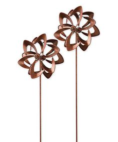 Loving this Bronze Mini Wind Spinner - Set of Two on #zulily! #zulilyfinds