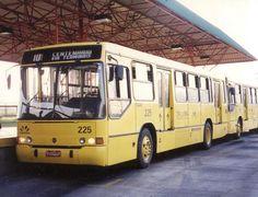 Ônibus troncal que iniciou o sistema integrado de transporte em Criciúma no ano de 1996. Foram substituídos por novos veículos em 2011.