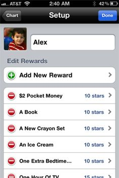 iRewardChart is an app that brings the traditional reward chart onto mobile device, with a customizable, interactive interface. iRewardChart looks to help parents keep track of their child's good behavior, and reward them appropriately.