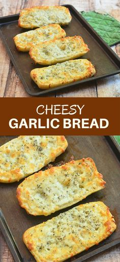Cheesy Garlic Bread with a simple trick to make them extra special! Garlicky and cheesy, they are the perfect pair for pasta, soups, and salads!
