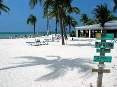 The beach at the southernmost end of Duval Street in Key West.