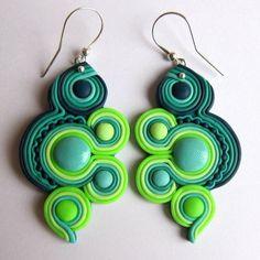 new-oriental-handmade-earrings-like-soutache-neon-green-blue-big-huge-drop-large