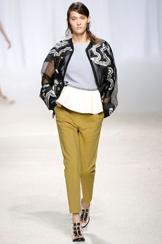 3.1 Phillip Lim Spring 2014 Ready-to-Wear Collection Slideshow on Style.com geode-inspired embroidery on organza