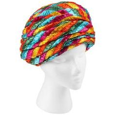 CHRISTIAN DIOR Chapeaux c.1960's Multicolor Straw Plated Beehive Turban Hat