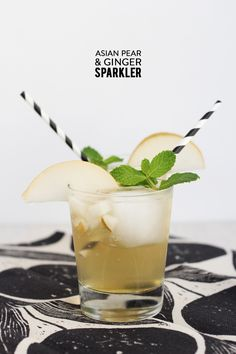 Asian Pear & Ginger Sparklers.