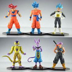 Cheapest 6pcs anime 12-14CM Dragon Ball Z Resurrection F Freeza Super Saiyan Goku Vegeta Trunks PVC Action Figure Collectible kids toys