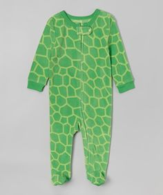 Look at this #zulilyfind! Green Turtle Fleece Footie - Infant, Toddler & Kids #zulilyfinds