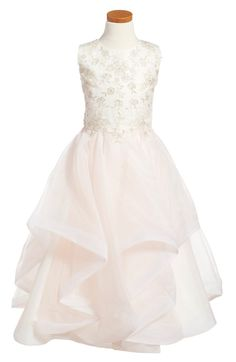 0d60e00d8b1 Joan Calabrese for Mon Cheri Tulle   Organza Dress (Little Girls   Big Girls)