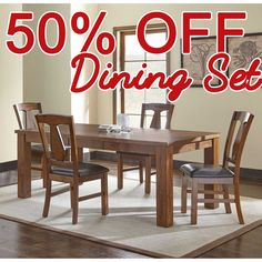 50 PERCENT OFF DISCOUNT  Fowler 5pc Dining Table Set.