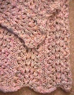 Elegantly Simple Baby Blanket pattern.  On my list for when the knitting bug gets me.  Will donate to a local hospital per wishes of designer.