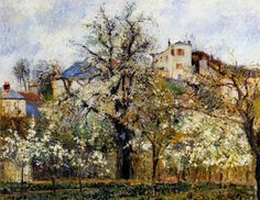 Camille Pissarro「Orchard with Flowering Trees, Spring」(1877)