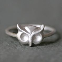 Owl Ring in Sterling Silver by MichelleChangJewelry on Etsy