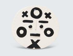 Tickak I ceramic face by Louise Kyriakou