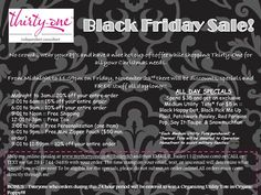 I know what I'm doing Black Friday next year!  You can shop online at www.mythirtyone.com/kerrynimitz and have your items shipped straight to you!
