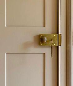 Brass Handles, Door Handles, Brass Hardware, Design A Space, Entrance Ways, Architrave, Month Colors, Creme Color, White Doors