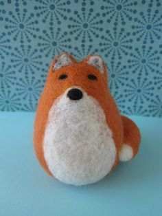 Needle Felted Wool Fox- some inspiration to try my hand at felting!