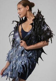 Войлочная мода от Harlequin Feltworks Studio | Felted Loft