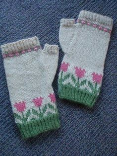 fair flower fingerless mitts