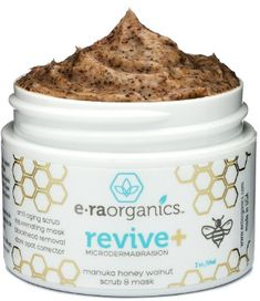 Microdermabrasion Facial Scrub & Face Exfoliator - Natural Exfoliating Face Mask with Manuka Honey & Walnut - Moisturizing Facial Exfoliant for Dull Dry Skin Care, Wrinkles, Acne & More Era-Organics Best Exfoliating Face Scrub, Face Scrub Homemade, Exfoliating Gloves, Homemade Moisturizer, Homemade Facials, Best Exfoliators, Facial Cleansers, Beauty Hacks For Teens, Best Face Mask