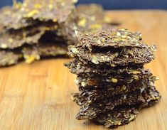 May I Have That Recipe | Flax and Chia Seed Crackers – Vegan and Gluten Free | http://mayihavethatrecipe.com